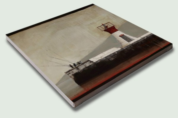 Kalk Bay Lighthouse by Donna McKellar Square Stretched Canvas