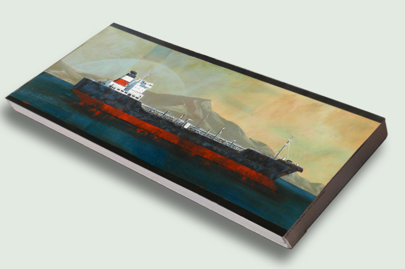 Puma Tanker (642) by Donna McKellar, artist print on stretched canvas.