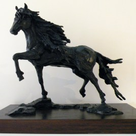 The Studio Art Gallery - Richard Gunston Sculptures - Friesian Detail 1