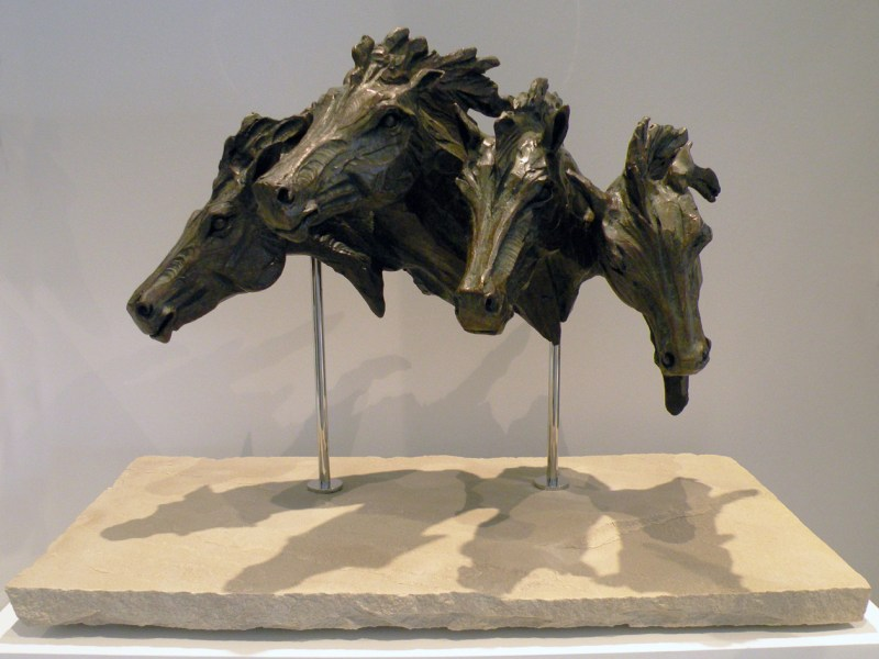 The Studio Art Gallery - Richard Gunston Sculptures - Galloping Horse Bust Detail 1