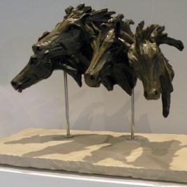 The Studio Art Gallery - Richard Gunston Sculptures - Galloping Horse Bust Detail 2