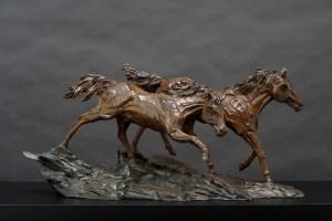 The Studio Art Gallery - Richard Gunston Sculptures - Namib Horses