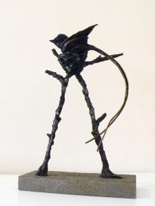 The Studio Art Gallery - Richard Gunston Sculptures - Nesting Paradise Flycatcher Detail 1