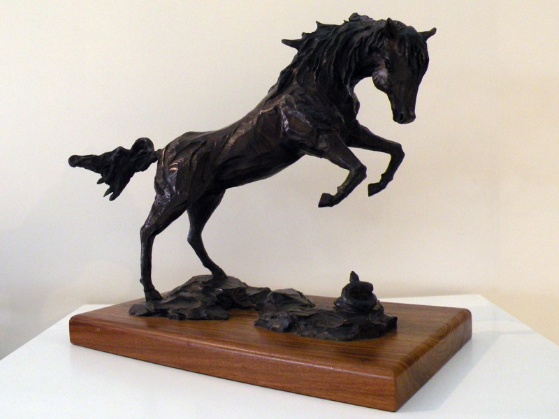 The Studio Art Gallery - Richard Gunston Sculptures - Rearing Arab Stallion Detail 1