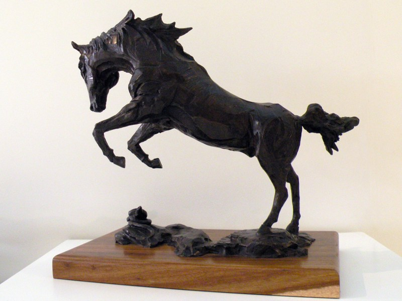 The Studio Art Gallery - Richard Gunston Sculptures - Rearing Arab Stallion Detail 2