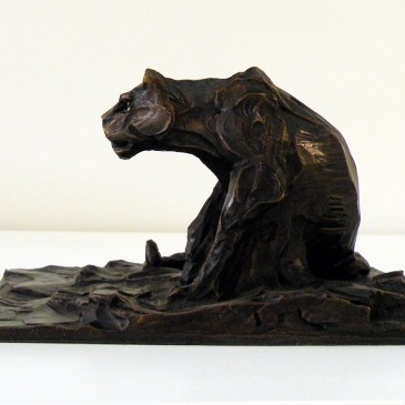 The Studio Art Gallery - Richard Gunston Sculptures - Small Lioness Marquette Detail 2
