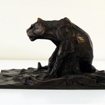 The Studio Art Gallery - Richard Gunston Sculptures - Small Lioness Marquette Detail 2