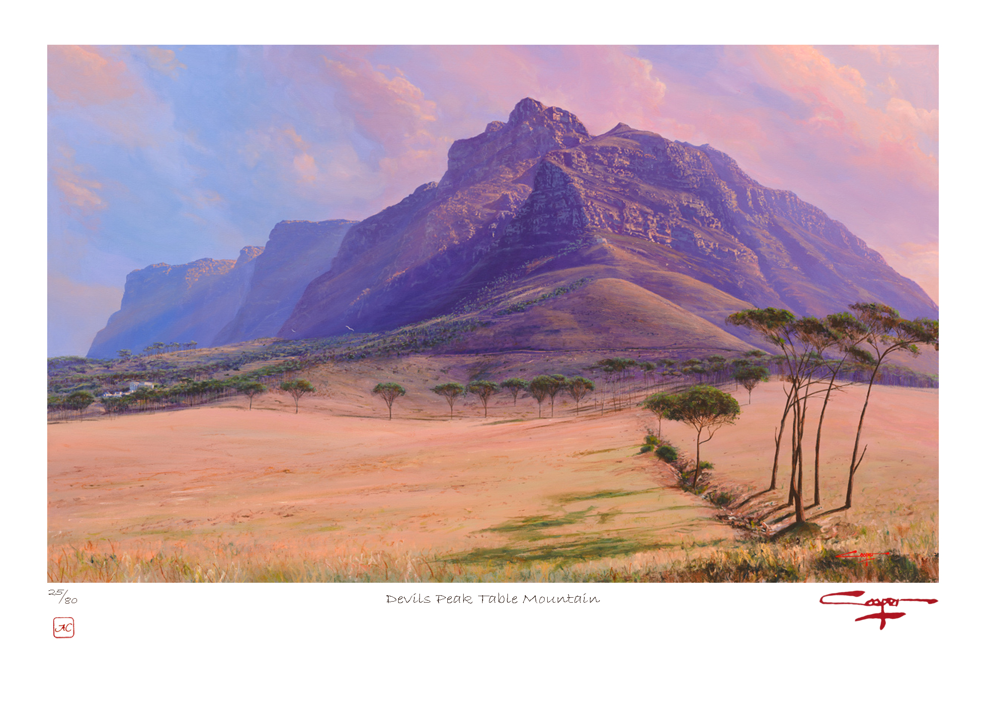The Studio Art Gallery - Andrew Copper - Devils Peak Table Mountain Limited Edition Print
