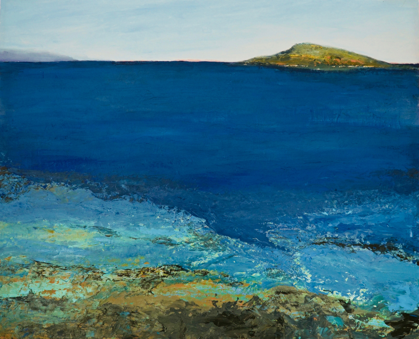 The Studio Art Gallery - Island View by Robyn Schoon - Oil on Canvas