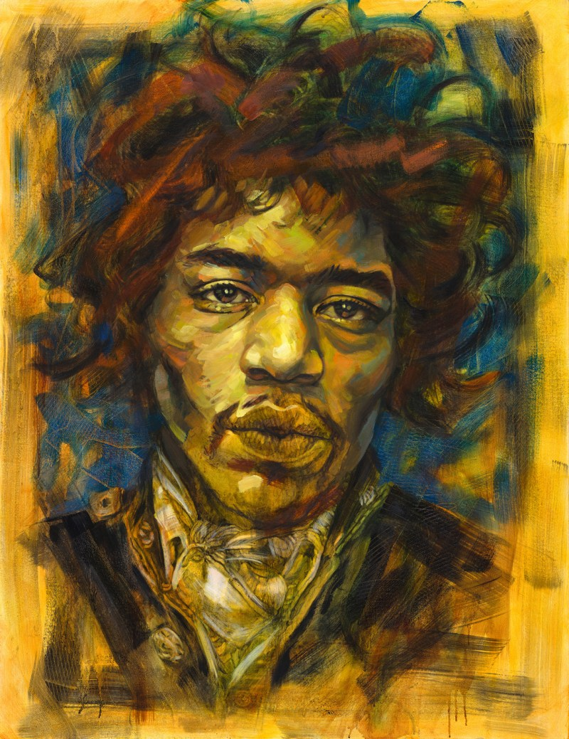 The Studio Art Gallery - Jimi Hendrix by Therese Mullins