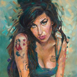 The Studio Art Gallery - Amy Winehouse by Therese Mullins