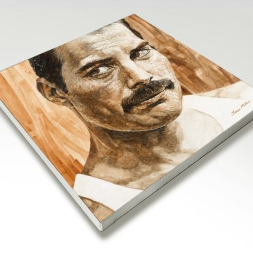 The Studio Art Gallery - Freddie Mercury by Therese Mullins - Stretched Canvas