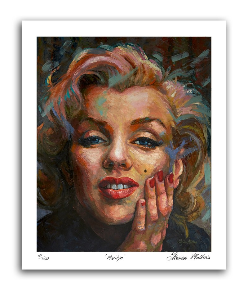 The Studio Art Gallery - Marilyn Monroe by Therese Mullins - Artist Print on Paper