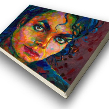 The Studio Art Gallery - Michael Jackson by Therese Mullins - Stretched Canvas