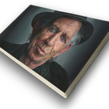 The Studio Art Gallery - Kieth Richards by Therese Mullins - Archival Print on Canvas Stretched