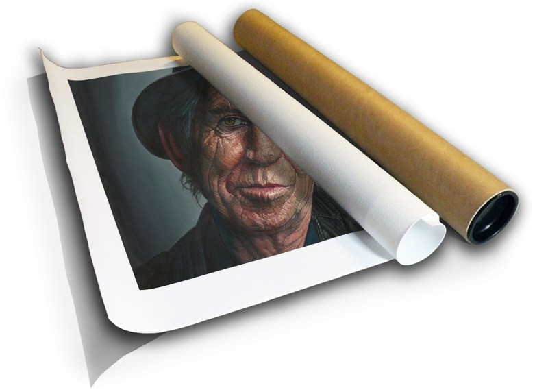 The Studio Art Gallery - Kieth Richards by Therese Mullins - Archival Canvas Print in Tube