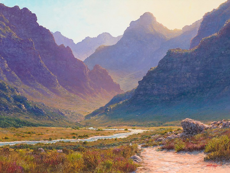 Andrew Cooper | The Studio Art Gallery - Eco-Logic Awards 2019 - Artist for Nature Exhibition - Morning haze, Worcester
