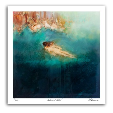 The Studio Art Gallery - Bodies of Water by Yola Quinn - Archival Print on Paper