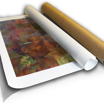 The Studio Art Gallery - Origin by Yola Quinn - Canvas Print Rolled in Tube