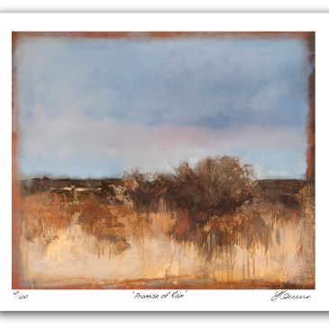 The Studio Art Gallery - Promise of Rain by Yola Quinn - Archival Print on Paper