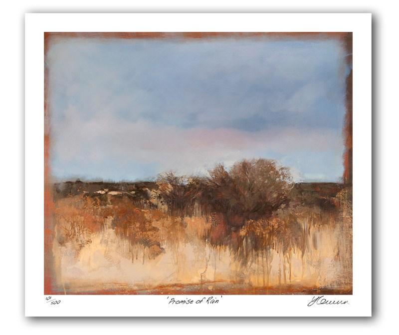 The Studio Art Gallery - Promise of Rain by Yola Quinn - Archival Print on Paper