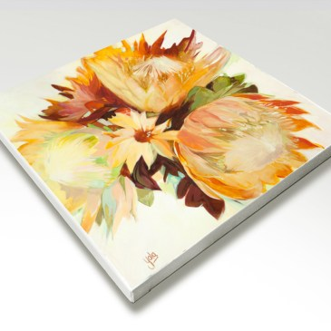 The Studio Art Gallery - Proteas I by Yola Quinn - Canvas Print on Stretcher