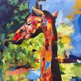 The Studio Art Gallery - Giraffe by Andrew Mokgatla