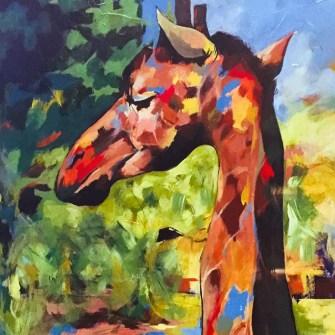 The Studio Art Gallery - Icon Image - Giraffe by Andrew Mokgatla