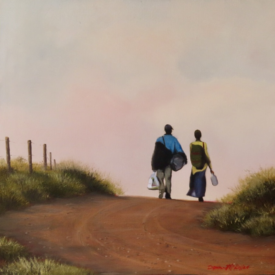 Donna McKellar | The Studio Art Gallery | Unpetrified - The Long Walk Home 886