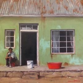 Donna McKellar | The Studio Art Gallery | Unpetrified - Washing Day 894