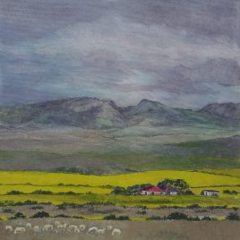 The Studio Art Gallery   2021 Mandela Day Block Art Exhibition   Bev De Meyer - Canola Fields Near Albertina
