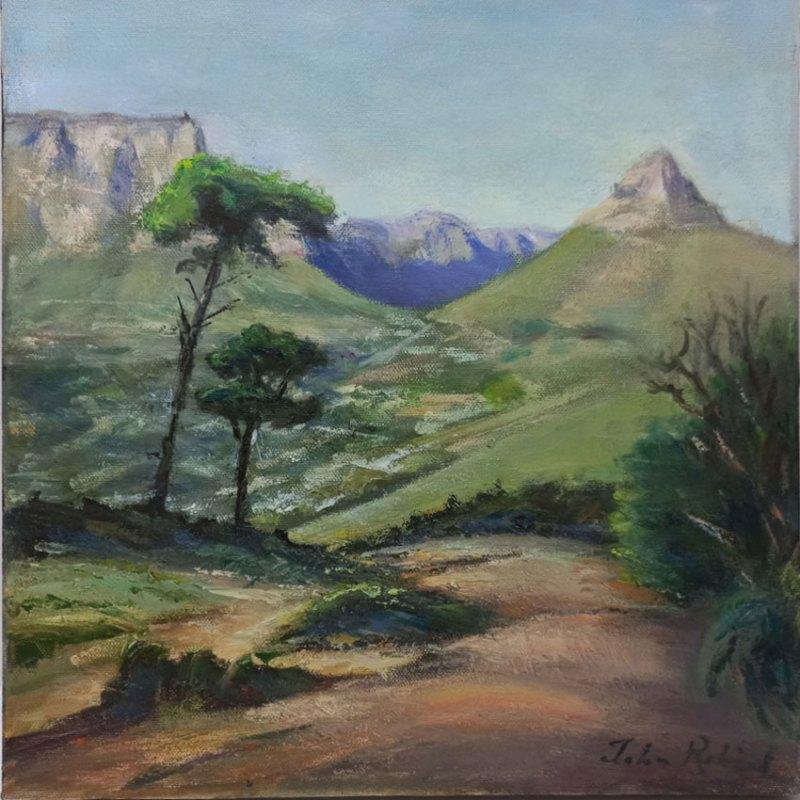 The Studio Art Gallery | 2021 Mandela Day Block Art Exhibition | John Robert - Table Mountain