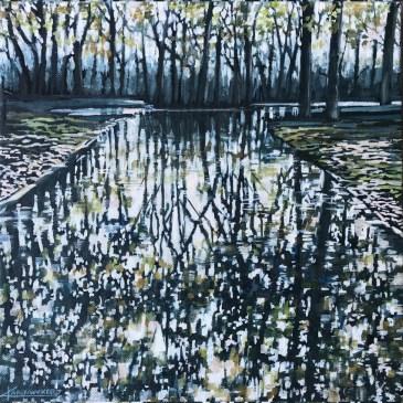 The Studio Art Gallery | 2021 Mandela Day Block Art Exhibition | Karen Wykerd - Take Me To The Trees V