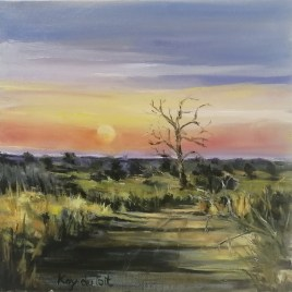 The Studio Art Gallery   2021 Mandela Day Block Art Exhibition   Kay Du Toit - Sunrise Sabi Sabi