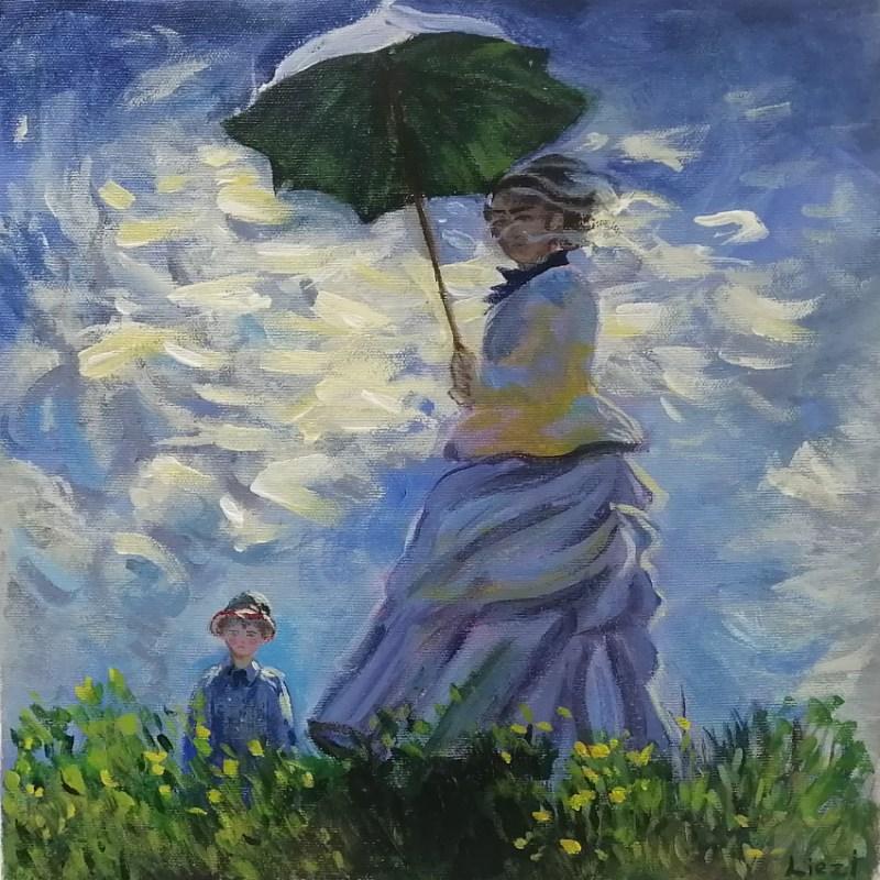 The Studio Art Gallery | 2021 Mandela Day Block Art Exhibition | Leizl Hoffman - The Stroll after Claude Monet
