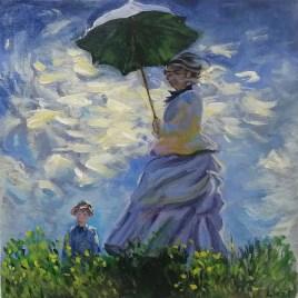 The Studio Art Gallery   2021 Mandela Day Block Art Exhibition   Leizl Hoffman - The Stroll after Claude Monet