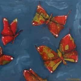 The Studio Art Gallery   2021 Mandela Day Block Art Exhibition   Natalie Walmsly - Ethereal Butterflies