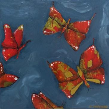 The Studio Art Gallery | 2021 Mandela Day Block Art Exhibition | Natalie Walmsly - Ethereal Butterflies