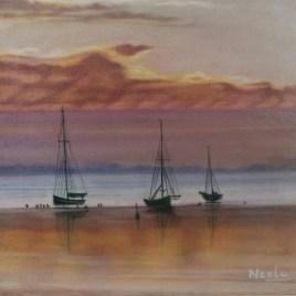 The Studio Art Gallery   2021 Mandela Day Block Art Exhibition   Neelu Dole - Twilight Sailing