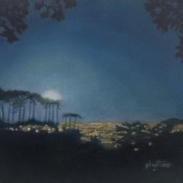 The Studio Art Gallery   2021 Mandela Day Block Art Exhibition   Phyllida Louw - Moonrise From Kirstenbosch I
