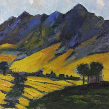 The Studio Art Gallery | 2021 Mandela Day Block Art Exhibition | Sue Sherman - Cape Mountains