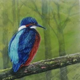 The Studio Art Gallery   2021 Mandela Day Block Art Exhibition   Saeeda Prew - Kingfisher in the Woods