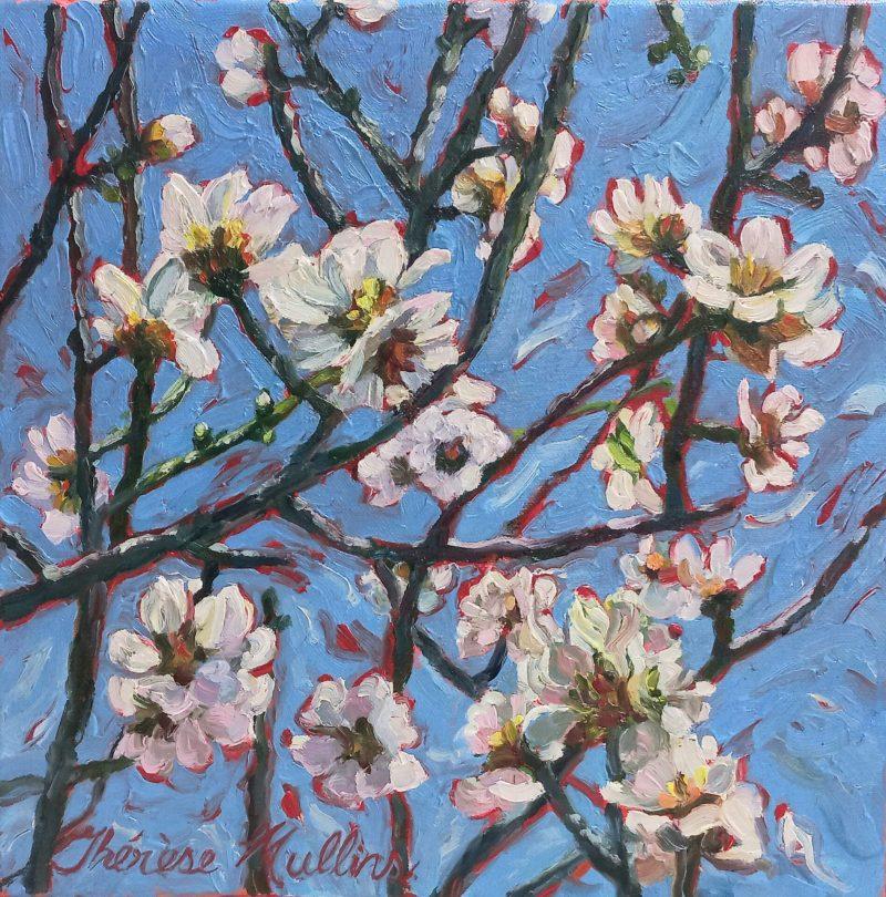 The Studio Art Gallery   2021 Mandela Day Block Art Exhibition   Therese Mullins - Walnut Tree in Blossom
