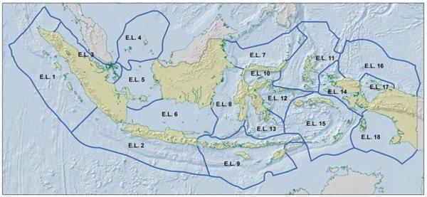peta ekoregion laut indonesia