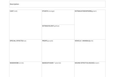 Luxury Scene Breakdown Template Gallery - Certificate Resume ...