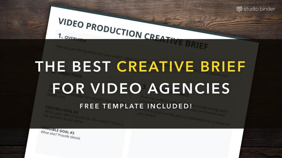 Download Your Free Filmmaking Production Documents and Templates Free Creative Brief Template