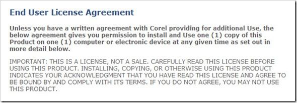 Corel General License
