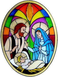 Handmade Peelable Decoration Nativity Scene