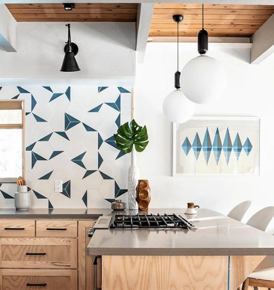 blue tile for your kitchen floor