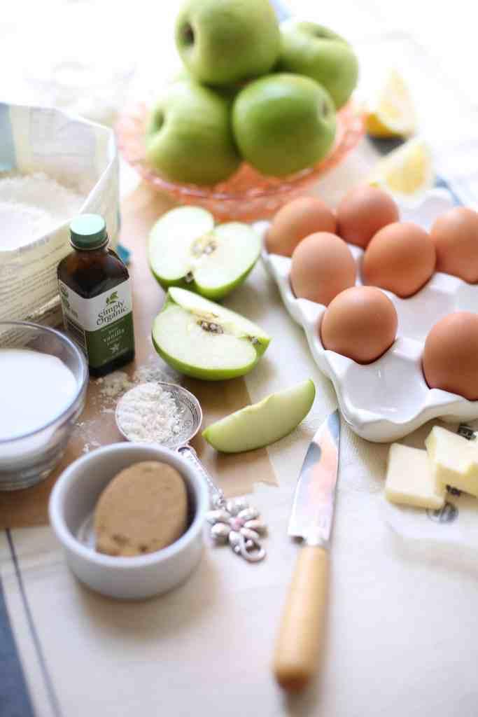 Ingredients for Apple Upside Down Cake